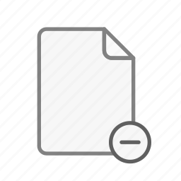 blanck, document, file, office, page, remove, sheet icon