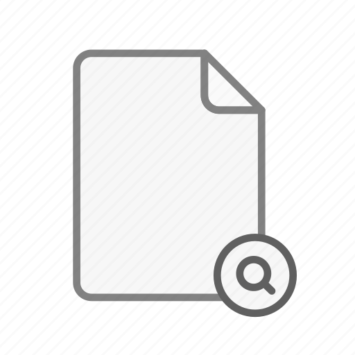 blanck, document, file, office, search icon