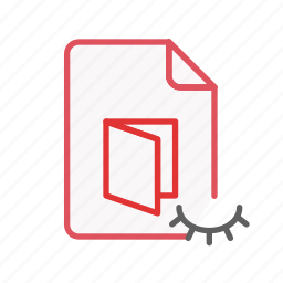 document, file, hidden, office, page, pdf, sheet icon