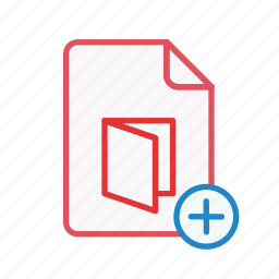 add, document, extension, file, office, page, pdf icon
