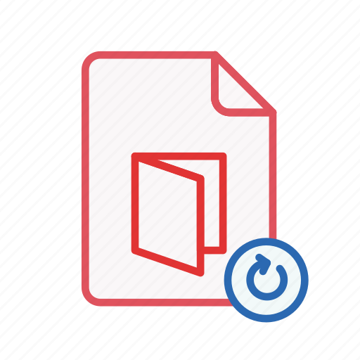 document, file, office, pdf, refresh icon