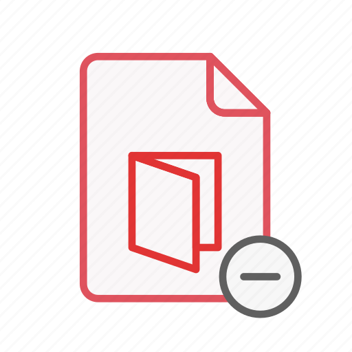 document, file, office, page, pdf, remove, sheet icon