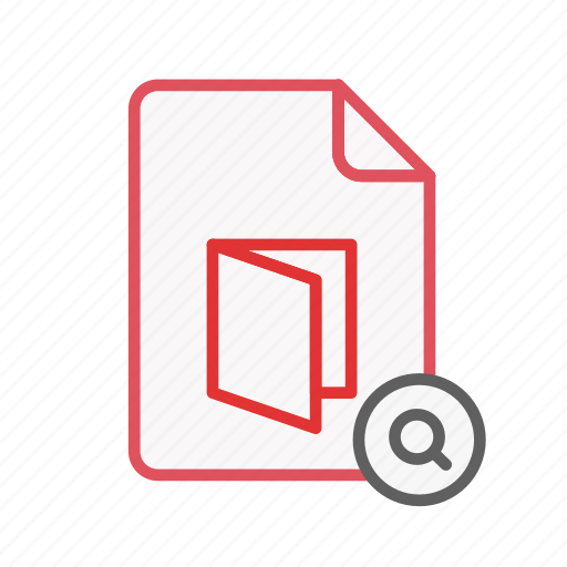 document, extension, file, office, page, pdf, search icon