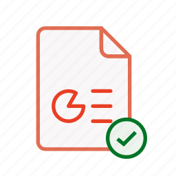 accept, document, file, office, ppt, presentation, type icon
