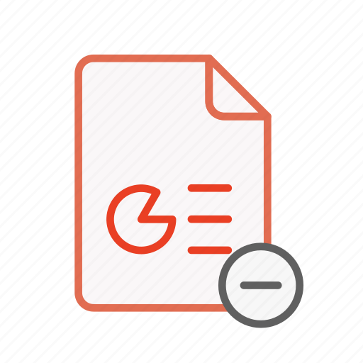 document, file, office, ppt, presentation, remove, type icon