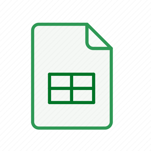 document, excel, file, office, page, sheet, spreadsheet icon
