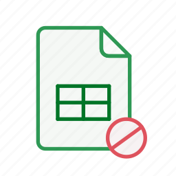 block, document, excel, file, office, sheet, spreadsheet icon