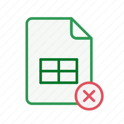 close, document, excel, file, office, spreadsheet icon