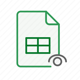 document, excel, file, office, sheet, spreadsheet, visible icon