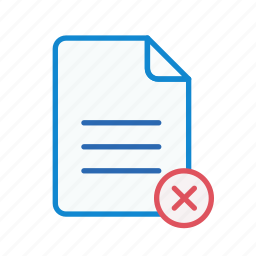 close, document, file, office, page, remove, text icon