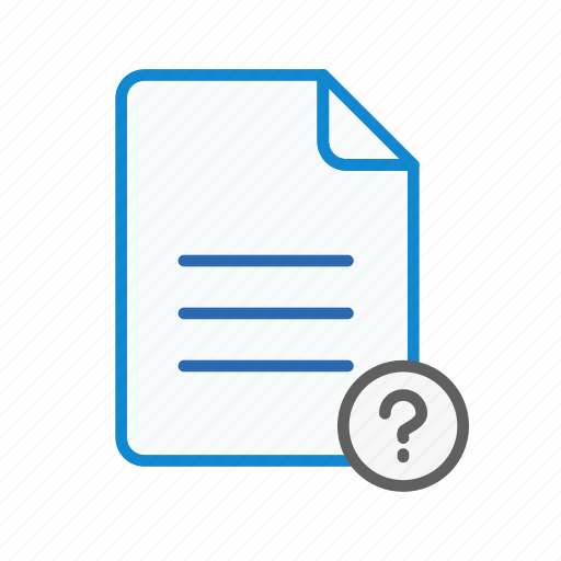 document, file, office, page, question, sheet, text icon