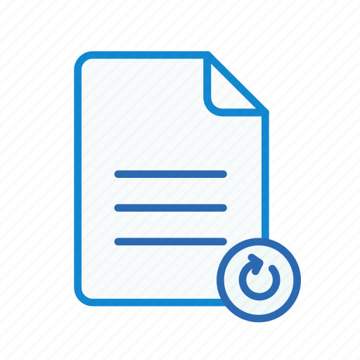 document, file, office, page, refresh, text, word icon