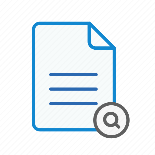 document, file, find, office, page, search, text icon