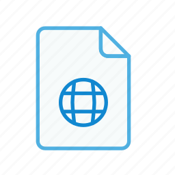 extension, file, internet, page, type, web, webpage icon
