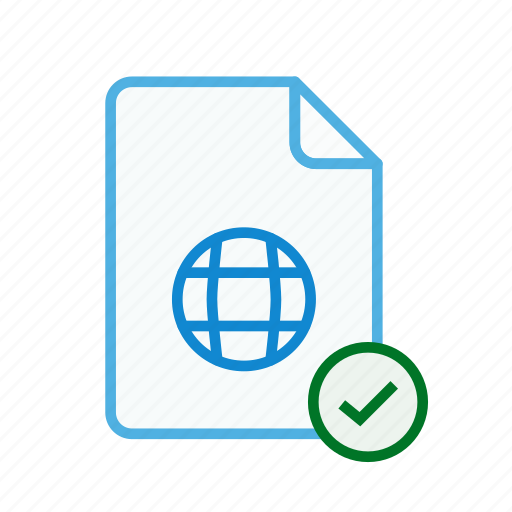 accept, file, internet, page, type, web, webpage icon