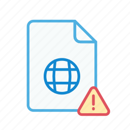 alert, data, extension, file, internet, web, webpage icon
