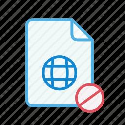 block, document, file, internet, page, web, webpage icon