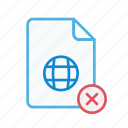 close, document, file, internet, page, web, webpage icon