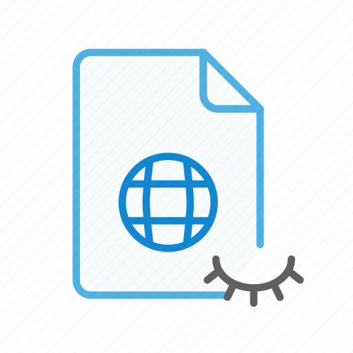 file, hidden, internet, page, type, web, webpage icon