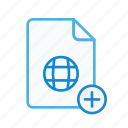 add, file, internet, page, plus, web, webpage icon