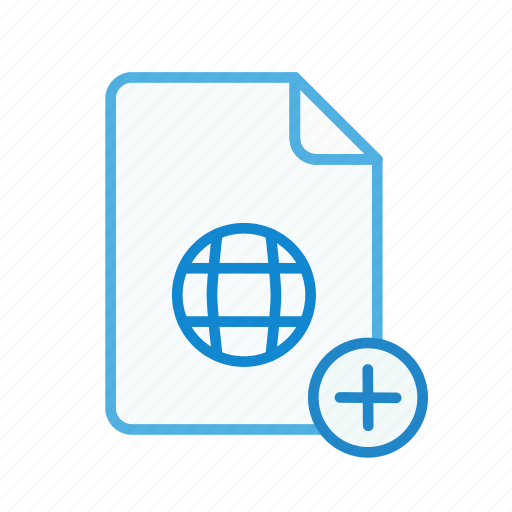 add, file, internet, page, plus, web, webpage icon