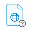 file, internet, page, question, web, webpage icon