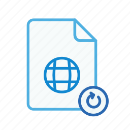 file, internet, page, refresh, renew, web, webpage icon
