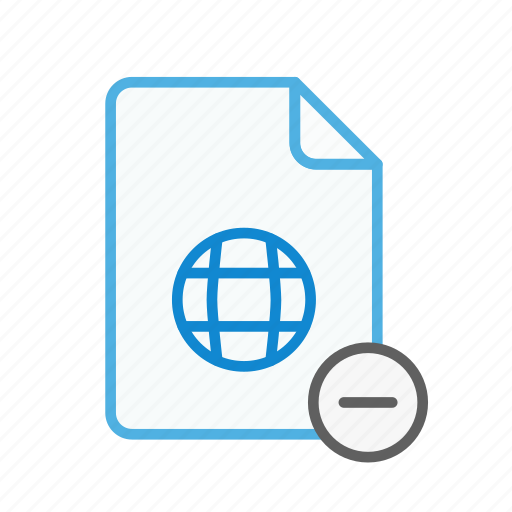 file, internet, page, remove, type, web, webpage icon