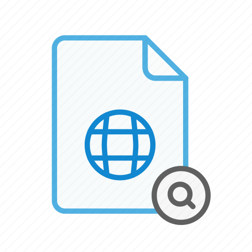 file, find, internet, page, search, web, webpage icon