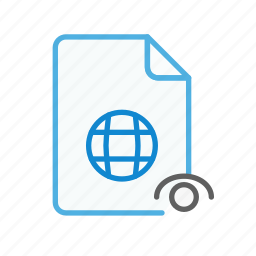 document, file, internet, page, visible, web, webpage icon