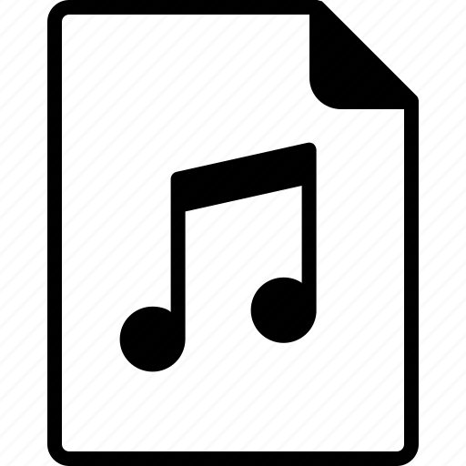 document, file, interface, music, note icon