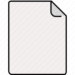 blank, document, file, interface icon