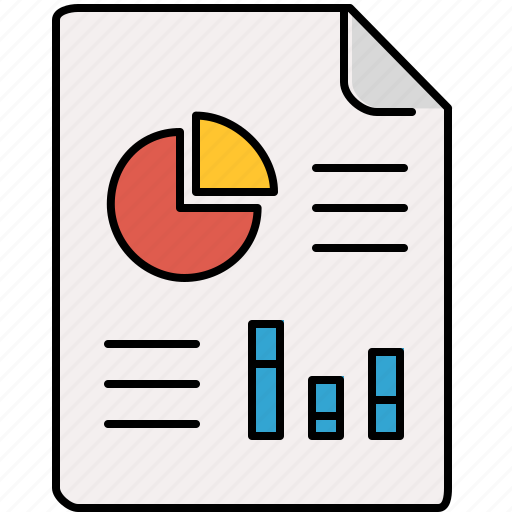 charts, document, file, interface, pie icon