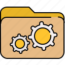 bolts, file, folder, interface, settings icon