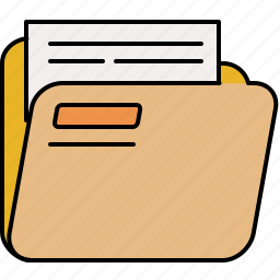 document, file, folder, full, interface icon