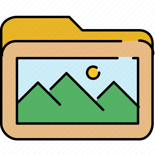 file, folder, gallery, image, interface, picture icon