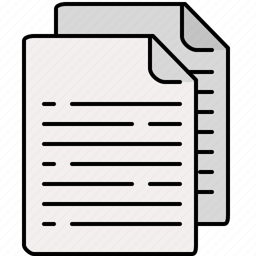 documents, interface, lines, multiple, text icon
