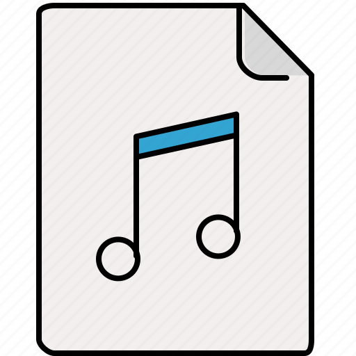 document, interface, music, note icon