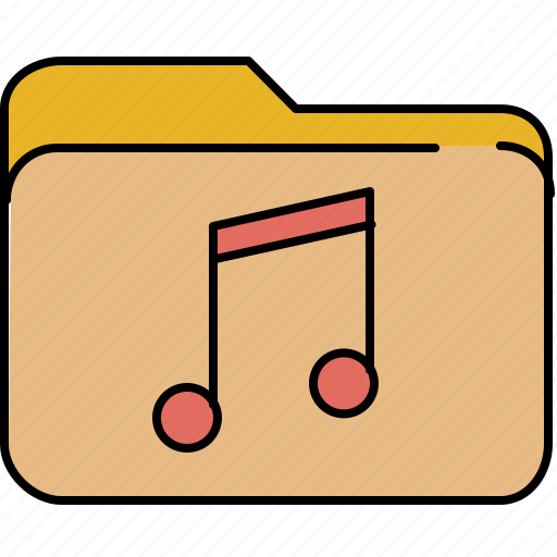 document, file, folder, music, note icon