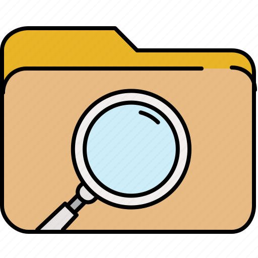 file, folder, interface, magnifier, search icon