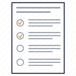 audit, check-list, document, file, page, sheet icon