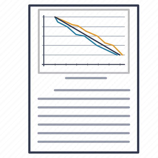 account, chart, document, graph, report, schedule, timetable icon
