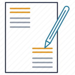 blank, document, file, form, note, page, signing icon