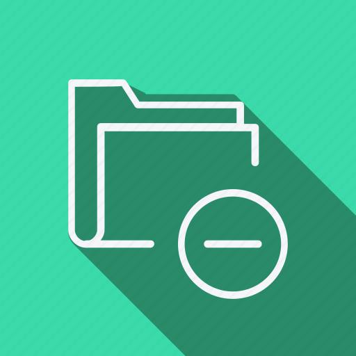 data, document, extension, file, folder, minus icon
