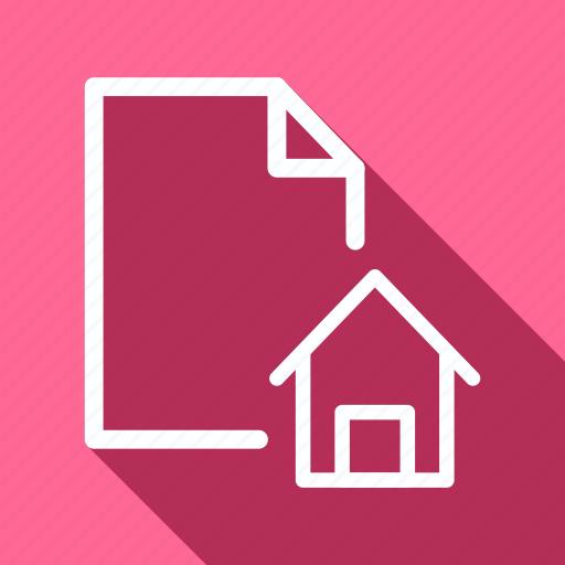 data, document, extension, file, folder, house, sheet icon