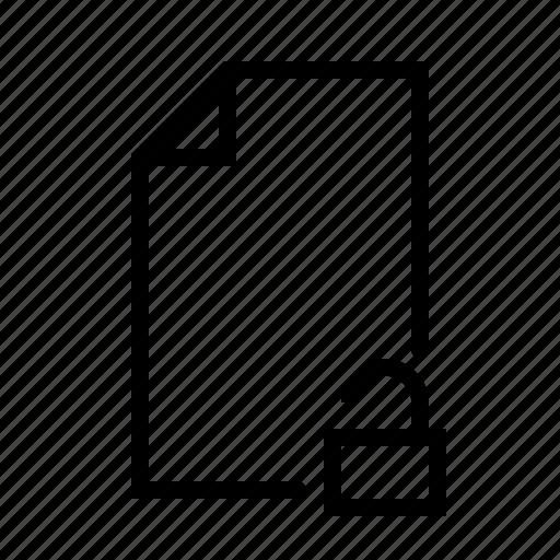 document, file, text, ui, unlock, word icon