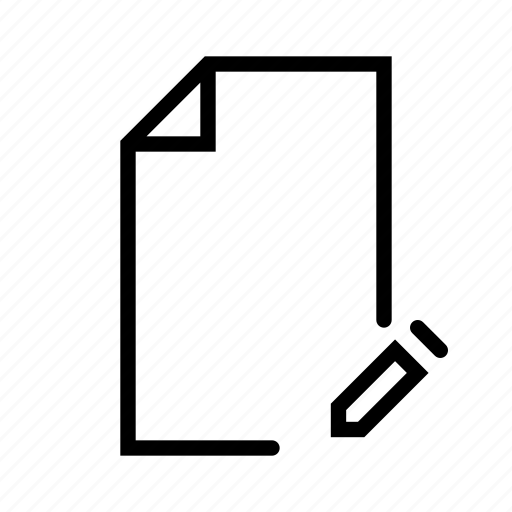 design, document, edit, file, ui, word icon