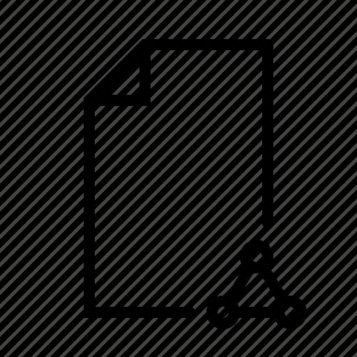 document, file, geometric, math, ui, word icon