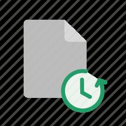 blacnk, document, file, restore icon
