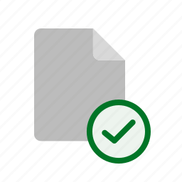 accept, blanck, file icon